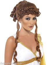 Adult Ladies Helen of Troy Roman Greek Goddess  Fancy Dress Costume Wig New