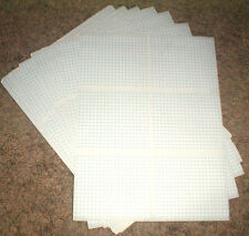 "Box of 4500 Self Adhesive Labels 4"" x 3 3/8"" with Blue Line Grid Pattern"