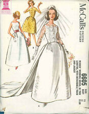 Vintage Bridal Gown Sewing Pattern M6605 Size 12