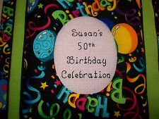 HAPPY BIRTHDAY Personalized Fabric Photo Album / Scrapbook - HANDMADE