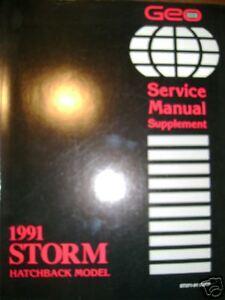 1991 Chevrolet Chevy Geo Storm Hatchback Service Manual