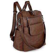UTO Women Backpack Washed Leather Rucksack Shoulder School Bag Fast Delivery New