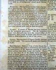 Maryland JEW BILL Finally Passes JOHN QUINCY ADAMS Inauguration 1825 Newspaper