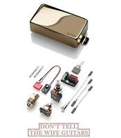 EMG 89 GOLD ACTIVE HUMBUCKER DUAL COIL & SINGLE COIL MODE SHORT SHAFT POTS