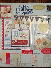 Baby BOY Scrapbook kit Pages Paper Stickers Alphabet Glitter Acccents 12x12 NEW