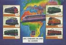 Timbres Trains Guinée BF 2150DJ/DP ** année 2001 lot 17593 - cote : 28 €