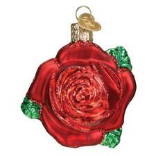 Red Rose Flower Gardening Garden Old World Christmas Glass Ornament Nwt 36251