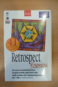 Retrospect Express Dantz Mac Software NEW SEALED 4.1 B8
