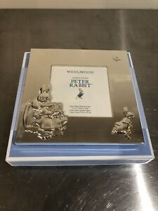 BRAND NEW Peter Rabbit Wedgewood Silver Photo Frame In Box