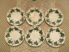 "Wedgwood Napoleon Ivy Set Of 6 Bread Plates 6"""