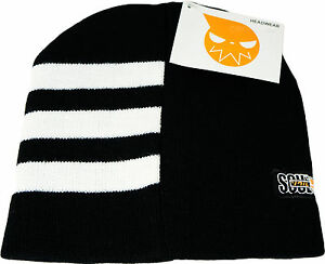 Soul Eater Death the Kid Hair Stripe Anime Beanie Cosplay Official Licensed