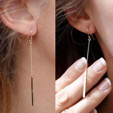 Women Silk Yarn Long Thread Tassel Earrings Fringe Drop Dangle Wedding Jewelry