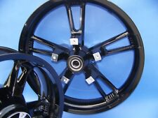 HARLEY ENFORCER WHEELS GLOSS BLACK POWDER COATED EXCHANGE PROGRAM BY WILLY SHINY