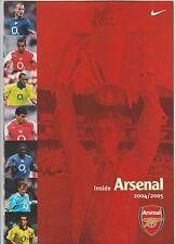INSIDE ARSENAL 2004/05 brochure