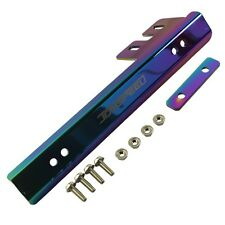 Neo Chrome Universal Front Bumper License Plate Mount Bracket Relocator Holder