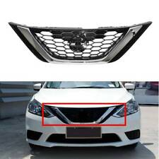 For Nissan Sentra 2016-2018 2017 Front Bumper Upper Chrome Grill ABS+ Chrome USA