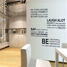 We are Family In This House Wall Sticker inspirational quote Art decal decor SR