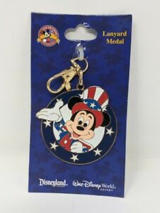 Disney Lanyard Medal 2008 Uncle Sam Mickey Mouse