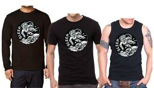 SLEEP THE CLARITY ASTRONAUT Herren T-shirt, SLEEP  Langarm Shirt,Tank Top