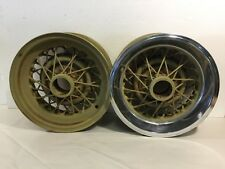 Pair Kelsey Hayes 50's Buick Skylark 40-Spoke Wire Wheels 15x6.5