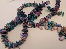 Shell Chip Beads, Dyed, Mixed Color, about 6-15mmx1-5mm, Hole 1mm - Qty 50
