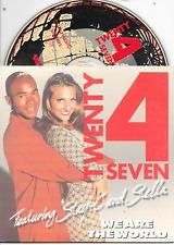 TWENTY 4 SEVEN - We are the world CD SINGLE 2TR Dutch Cardsleeve Eurodance 1996