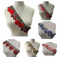 1 Yard Flower Ribbon Embroidered Lace Trim Sewing Wedding Dress Clothing DIY