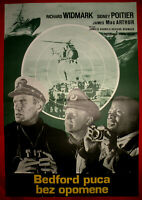 BEDFORD INCIDENT 1965 RICHARD WIDMARK SIDNEY POITIER MACARTHUR EXYU MOVIE POSTER
