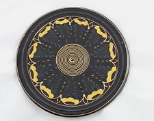 Plato Bandeja de ceramica policromada, pintado a mano 29cmØ.  VINTAGE Años 80