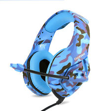 Camouflage K1 3.5mm Mic Stereo Gaming Headset Headphone for MAC Laptop PS4 Xbox