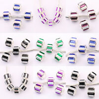 Top 5/20Pcs European Czech Rhinestone Lampwork Beads Loose Spacer Beads 11x10mm