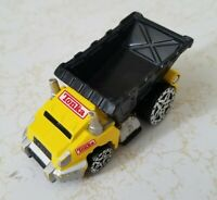 "MAISTO TONKA DUMP TRUCK TOY 3"" LONG DIECAST YELLOW BLACK 2005 HASBRO CAR"