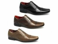 Red Tape BRANSTON Mens Leather Brogue Chisel Toe Comfy Smart Formal Office Shoes