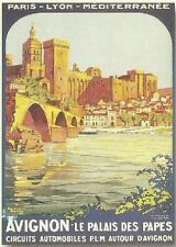 FRENCH VINTAGE POSTER 50x70cm AVIGNON CITY PALACE OF THE POPES
