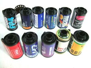 10 rolls Exposed 35mm FILM Color B&W Polaroid Kodak Ilford Jessops LUCKY DIP!
