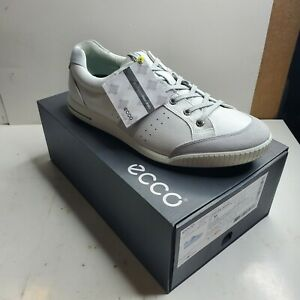 Ecco Mens Street Retro Golf Shoes Concrete/White/Lown Green Size 12-12.5