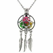 Silver Dream Catcher Cage Pendant, Akoya Oyster Pearl 20 Inches Chain for Gift