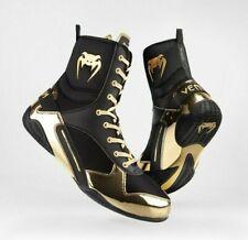 Venum Elite Professional Boxing Shoes - Black/Gold  US10