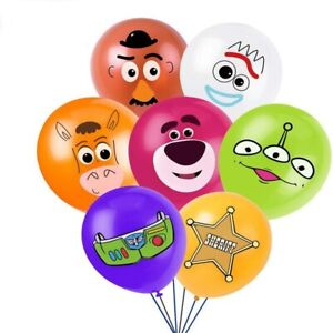 """TOY STORY BALLOONS 12"""" LATEX BIRTHDAY PARTY DECORATION KIDS PARTY UK SELLER"""