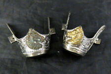 Western Cowboy Boot Tips Toe Tips Horse Head Silver Gold Plated Southwestern B22
