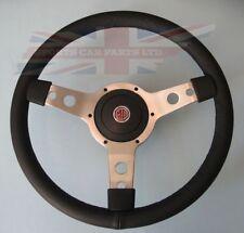 "New 14"" Vinyl Steering Wheel & Adaptor for MG Midget 1970-1977 and MGB 1970-1976"