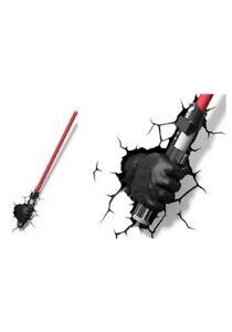 Star Wars Darth Vader Hand & Lightsaber 3D Deco LED Light FX very nice