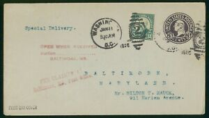 Mayfairstamps US FDC 1926 Harrison Station Combo to Milton Mauck First Day Cover
