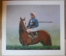 Signed John Francome MBE Rhythmic Stunning Horse Racing Print Picture