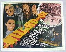 80's Vintage ☆ Wizard Of Oz ☆ Judy Garland ++ ☆ Lobby Card Poster Litho (Ver. 2)