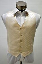 Men's Wedding Suit Vest Adjustable Ivory Patterned Formal Size 42, 46.48
