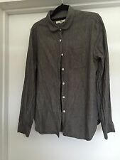 YMC Women's Grey Flannel Shirt Sz14