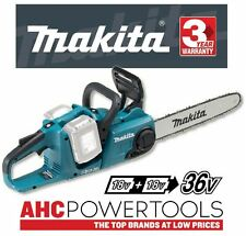 Makita DUC353Z 36V (Twin 18V) Cordless Brushless 350mm Chainsaw - Body Only