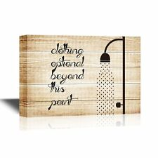 wall26 - Bathroom Canvas Wall Art - Clothing Optional Beyond This Point - 12x18