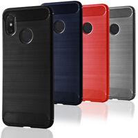 Boitier de Téléphone Pour Xiaomi Mi 8 Silicone Poid Plume Fibre de carbone Coque